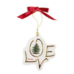 Spode Christmas Tree Love Disk Ornament