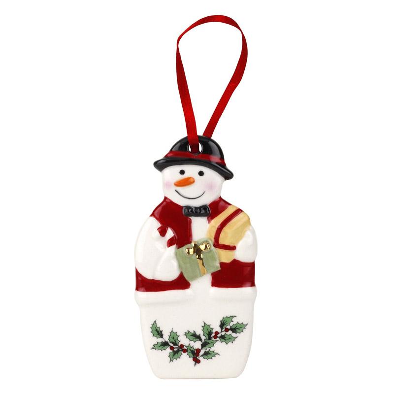 Spode Christmas Tree Mr. Snowman Ornament 2018 | Silver ...