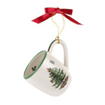 Spode Christmas Tree Mug with Green Handle Ornament