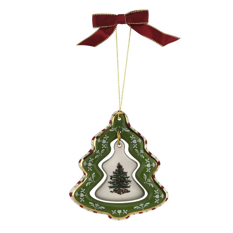 Spode Christmas Tree.Spode Christmas Tree Tree Ornament Fine Bone China Christmas Ornament By Spode