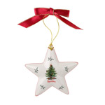 Spode Christmas Tree Star Ornament