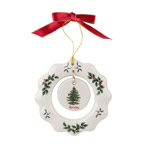 Spode Christmas Tree, Wreath Ornament  Ornament | Spode Christmas Ornament | Christmas Wreath