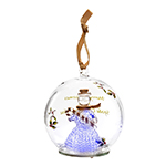 Spode Christmas Tree Snowman Glass LED Ornament