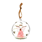 Spode Christmas Tree Angel Glass LED Ornament