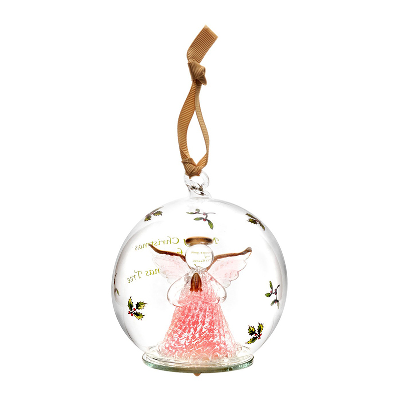 Spode Christmas Tree Angel Glass LED Ornament
