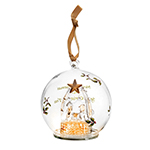 Spode Christmas Tree Manger Glass LED Ornament