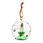 Spode Christmas Tree Candle Glass LED Ornament
