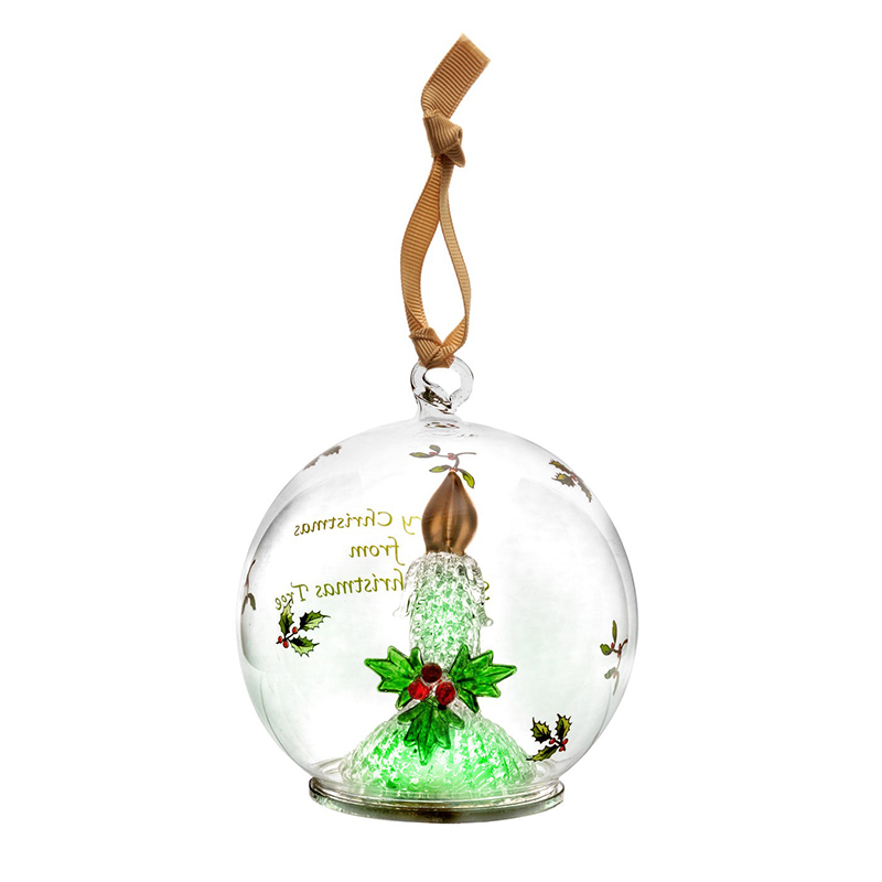 2016 candle glass led ornament christmas ornament spode christmas tree decoration christmas candel decoration - Christmas Decorations Led Ornaments