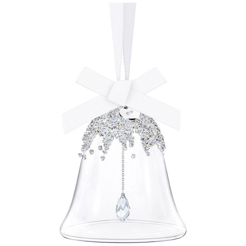 Swarovski Christmas Bell Small Ornament 2018 Silver