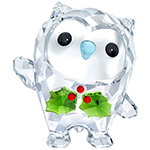 Swarovski 2018 Hoot Happy Holidays Christmas Figurine