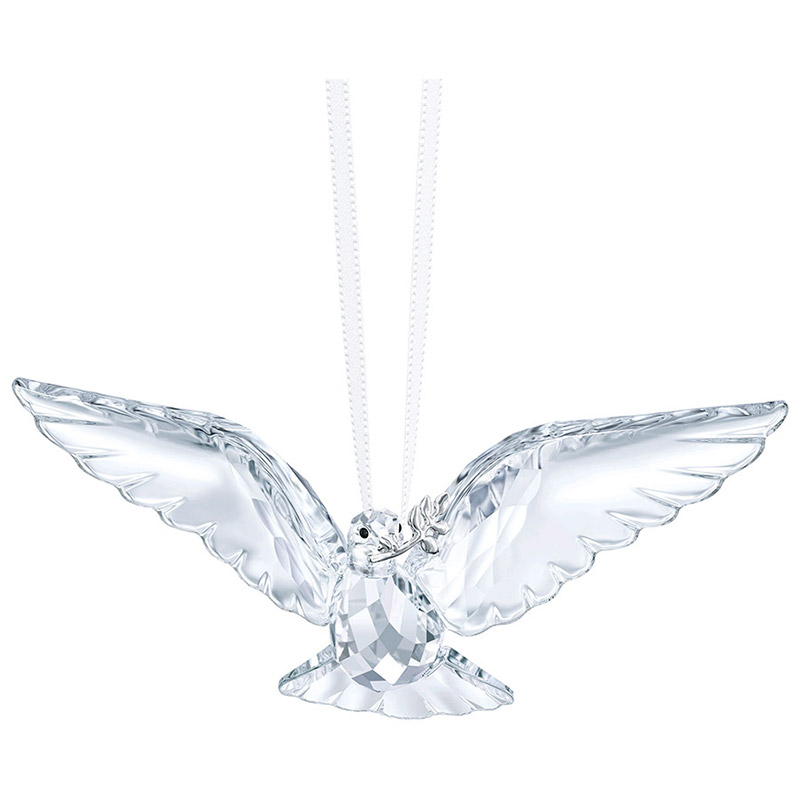 Peace Dove Ornament | Swarovski Christmas Tree Decoration | Christmas Snowflake Ornament