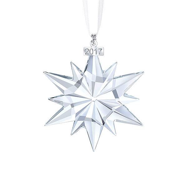 Annual Christmas Star Ornament | Swarovski Christmas Tree Decoration | Christmas Bell Ornament