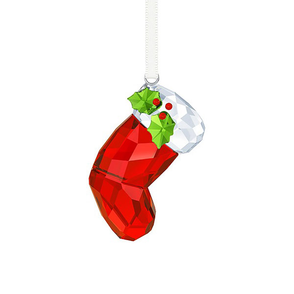 Swarovski Christmas Tree Decoration Set : Swarovski santa s stocking ornament