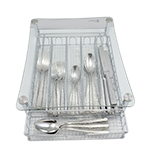 Glass Utensil Holder for Flatware, Silverware, and Coffee Pods