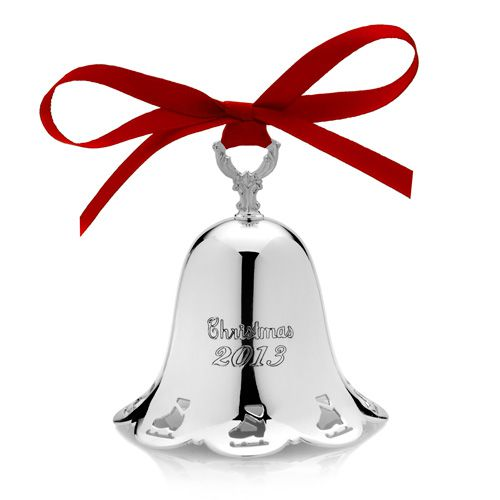 Towle annual bell christmas ornament silver superstore