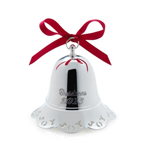 Towle annual silver musical bell ornament