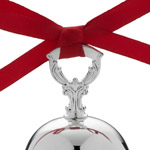 2016 Silver Bell | Towle Christmas Tree Ornaments | Bell Ornament