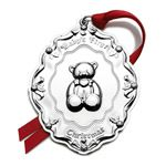 Towle Baby's First Christmas Silver Ornament