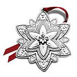 2014 Towle Old Master Snowflake Sterling Silver Christmas Ornament