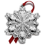 2016 Towle Old Master Snowflake Sterling Silver Christmas Ornament