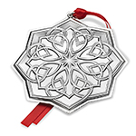 2017 Towle Annual Celtic Sterling Silver Christmas Decoration