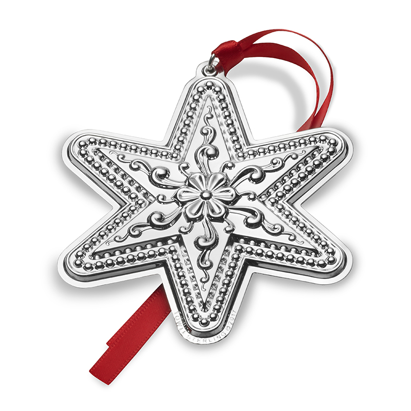 Silver Star Ornament 2017 | Towle Silver Christmas Ornament ...