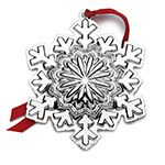 2015 Wallace Grande Baroque Bell Silver Christmas Ornament