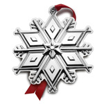 2017 Tuttle Snowflake Sterling Silver Christmas Ornament