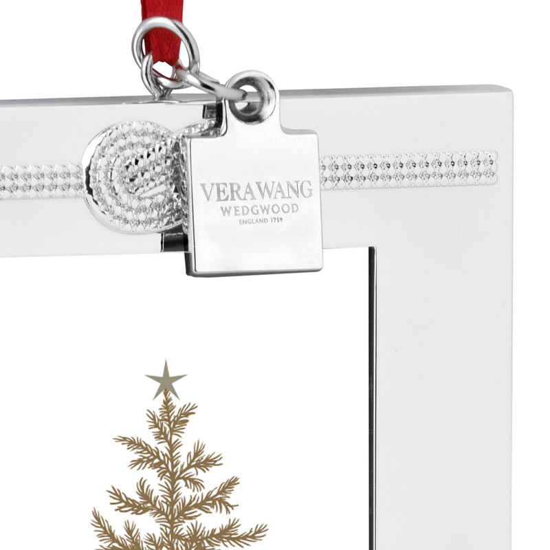 Vera Wang Infinity Picture Frame Christmas Ornament 2016 | Silver ...