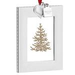 2016 Vera Wang Vera Heart Picture Frame Ornament, silver