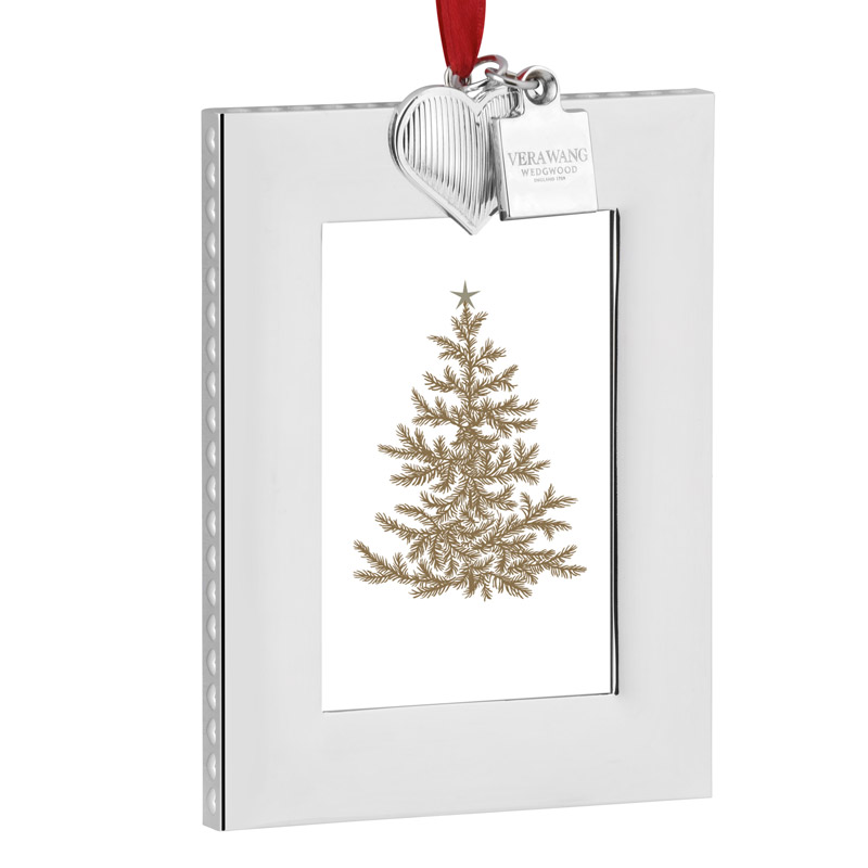 Vera Wang Vera Heart Picture Frame Christmas Ornament 2016 | Silver ...