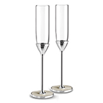 With Love Pearl Toasting Flute Sets by Vera Wang