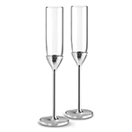 With Love Silver Toasting Flute Sets by Vera Wang