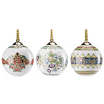 2017 Christmas Bell / Ball Shaped Ornaments, Set of 3
