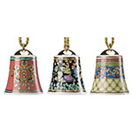 2017 Christmas Bell Ornaments, Set of 3