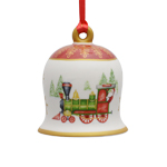 2017 Villeroy and Boch Christmas Bell, Porcelain Christmas Ornament