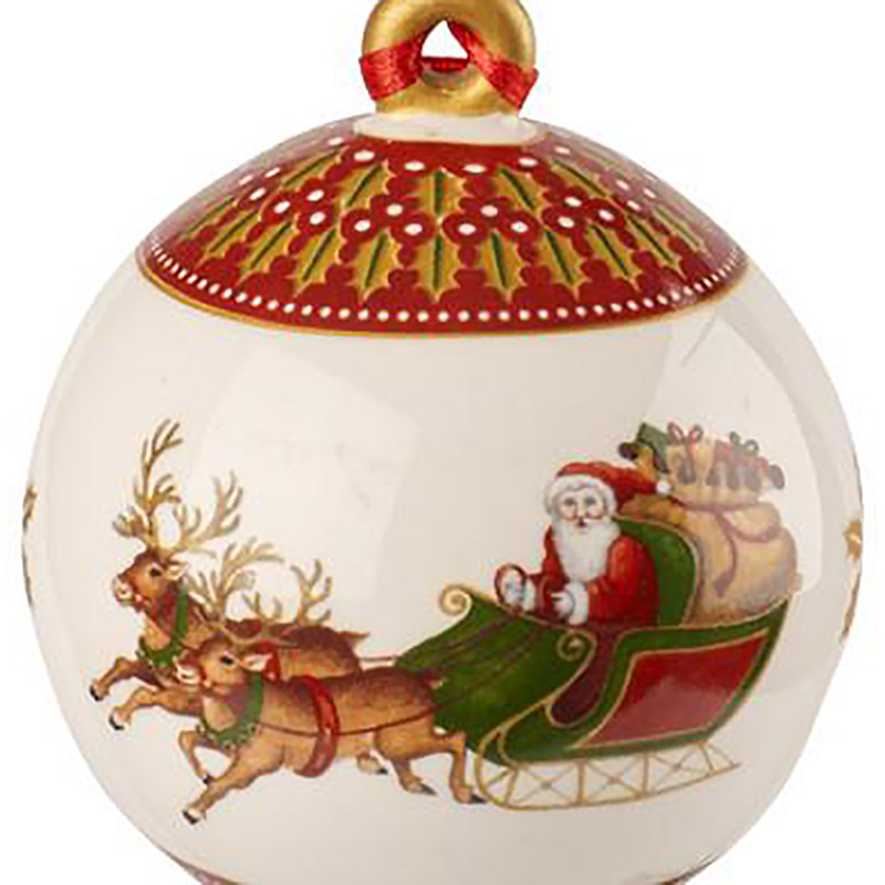 Villeroy and boch porcelain ball ornament 2018 silver for Villeroy and boch christmas