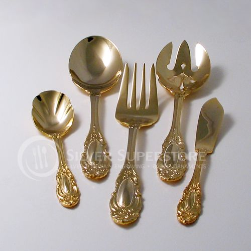 Wallace Duchess Gold Plate Stainless Flatware