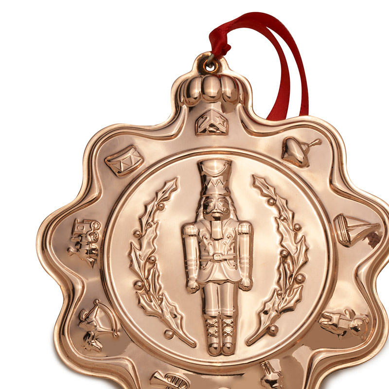 Copper Christmas Ornaments.Wallace Copper Classic Vintage Toys Nutcracker 2019 Copper Christmas Ornament By Wallace