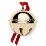 2016 Wallace Goldplate Sleigh Bell Christmas Ornament