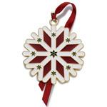 2013 Wallace Santa Bell Silver Christmas Ornament
