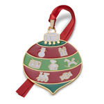 2017 Wallace Wonders of Christmas Goldplate and Enameled Bauble Christmas Tree Decoration