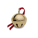 2018 Wallace Gold Sleigh Bell Ornament | Wallace Christmas Ornaments | Gold Sleigh Bell