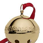 2018 Wallace Christmas Sleigh Bell, Goldplate
