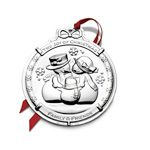 2013 Wallace Snowman Silver Christmas Ornament
