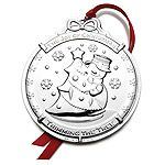 2014 Wallace Snowman 1st Edition Silverplate Christmas Ornament