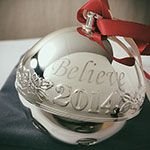 2014 Wallace Believe Sleigh Bell Silverplate Christmas Ornament