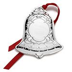 2015 Wallace Engravable Bell Silverplate Christmas Ornament