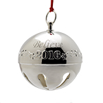 2016 Wallace Believe Sleigh Bell Silverplate Christmas Ornament