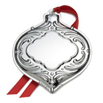 2016 Wallace Engravable Bauble Silverplate Christmas Ornament
